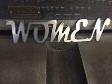 Women Old Script Vintage Metal Sign business bathroom