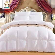 Pure Canadian Goose Down Comforter Quilt Doona Coverlet Duvet White for Winter