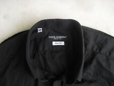 Dolce & Gabbana Long Sleeves Black Shirt Size 40 - Made in Italy