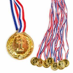 Goldmedaillen, 8 Kindermedaillen für Siegerehrung Sportfest Schule, Kunststoff