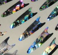 Holographic Northland Dart Minnow Replacement Decals- Silver Lot of 192!!