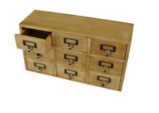 9 Drawer Triple Level Solid Wood Storage Cabinet