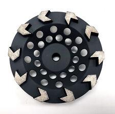 """New 7� Premium Arrow Segment Pro Diamond Grinding Cup Wheel- 5/8""""-11 Arbor"""