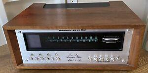 Vintage 1972 MARANTZ MODEL 120B FM / AM Tuner W/ Oscilloscope & Wooden Case