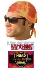 Yellow/Orange TIE-DYE DO DOO RAG FITTED Tied BANDANA Skull Cap Head Wrap Danna