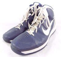 Nike Airmax Hyperdunk Navy Blue White High Top Basketball Shoes Approx Sz 14-15