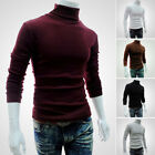 Winter Men Slim Warm Cotton High Neck Pullover Jumper Sweater Turtleneck Stylish
