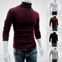Winter Men's Slim Warm Cotton High Neck Pullover Jumper Sweater Turtleneck Nice