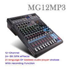 12 Channel Professional Audio Mixer console 4 Mono 4 stereo 3 Band EQ