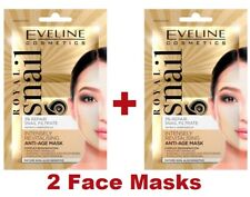 2 X Eveline Royal Snail Revitalising Anti-Age Face Mask Smoothes Wrinkles
