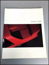 1986 Pontiac 78-page Brochure Catalog - Fiero Firebird TransAm Grand Prix Am