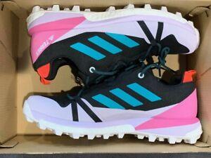 adidas Terrex Skychaser Trail Hiking Running Shoe Blue White Pink Women's Sz 8.5