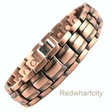 NEW MENS COPPER BIO MAGNETIC THERAPY HEALING BRACELET FOR ARTHRITIS PAIN RELIEF