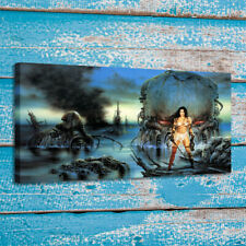 Home Art Wall Decor Luis Royo Fantasy Warriors Painting Print on Canvas 24x42