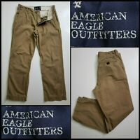 American Eagle Outfitters Men Straight Khaki Pants Flat Front size 29 x 30