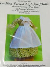 """18"""" Doll Dress Kit Evoking Period Revolutionary War Era Gown Pattern & Fabric"""