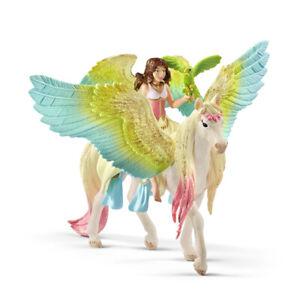 Schleich 70566 Bayala Winged Fairy Surah with Glitter Pegasus & Bird Figure Set
