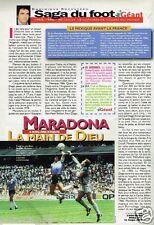 Coupure de Presse Clipping 1998 (1 page) Maradona la main de Dieu