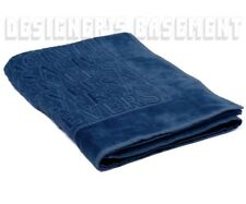 VERSACE navy blue Signature LOGOS terry BEACH blanket Towel NWT Authentic $250!