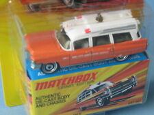Matchbox Lesney Edition 1963 Cadillac Ambulance Orange Toy Model Car 75mm