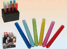 PLASTIC MULTI COLOURED TEST TUBE SHOT GLASSES FOR SHOTS - FOAM STAND INCLUDED