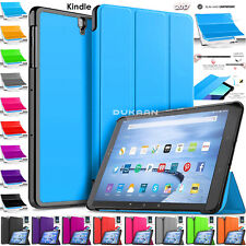 """Leather Smart Stand Case Cover For Amazon Kindle Fire HD 10"""" Inch 7th Gen 2017"""