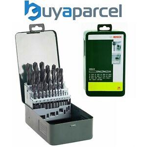 Bosch 25 Piece HSS-R Metal Drill Bit Set 2607019446 In Case