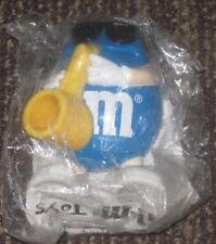 1997 M&M Burger King Toy - Blue Mini Dispenser with Saxaphone