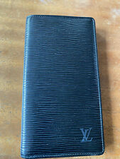 Authentic Louis Vuitton black Epi leather long wallet