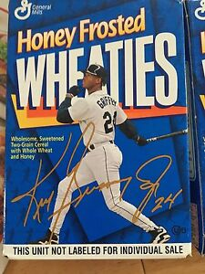 Ken Griffey, Jr--1996 Honey Frosted Wheaties--1 oz Cereal Box--Seattle Mariners