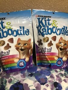 PURINA KIT & KABOODLE Original Cat Food 4 TASTY FLAVORS / 2-bags 12oz - 340g