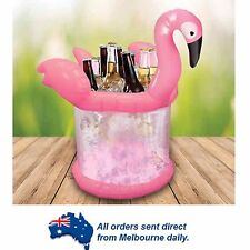 LARGE Novelty Pink Flamingo Inflatable Portable Drinks Ice Bucket Cooler Party