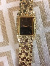 Seiko mans gold nugget Watch 973134/ 14k (70 Grams of Gold)