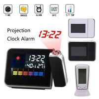 Indoor Digital Projector Projection Weather Station Calendar Snooze Alarm Clock
