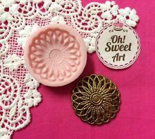 Elegant brooch silicone mold fondant cake decorating cupcake food soap food FDA