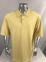 Tommy Bahama Men's Short Sleeve Polo Embroidered Swordfish Yellow Shirt Size XL