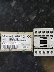 MOELLER DILA-40 230V CONTACTOR RELAY 4 N/O CONTACTS DIN RAIL MOUNT
