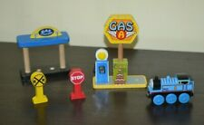 Thomas & Friends Wooden Train Set Accessories Gas Station Gas Pump RR Sign Train
