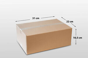 Faltkarton Versandkarton einwellig 310 x 220 x 105 mm Versandschachtel Karton