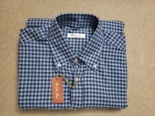 NWT Loro Piana Mens 100% Cotton Check Shirt Medium