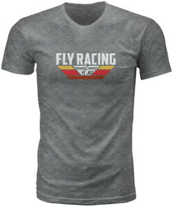 Fly Racing Voyage Tee Dark Grey Heather