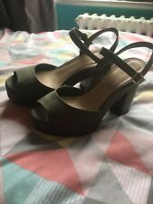 New Look Khaki Green Platform Buckle High Heel Sandals Size 6