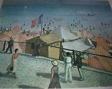 ETE, LA PLAGE DES SABLES D'OLONNE Albert Marquet Color Print French Artist