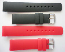 22mm NST BFC Two Replacement Black Red Silicone Band Fit Nautica Watch N14538G