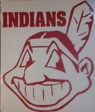Cleveland Indians VINYL DECALS - 2  CORNHOLE DECALS Vehicle Window Decals