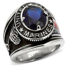 Us-Marine-Ring Anillo militar acero inoxidable souvenir us size: 9. .11 .12 .13.