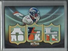 Knowshon Moreno 2010 Topps Triple Threads Game Used Jersey Patch Rookie #1/1