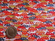 Small Cars 100% Cotton Lawn Fabric Material