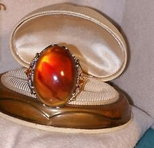 Gems En Vogue Michael Valitutti 18k Yellow Gold Sterling silver Amber Agate ring