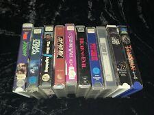 10 Horror/SciFi/Thriller OOP VHS Lot! Magnum, Embassy, New World! Street Asylum!
